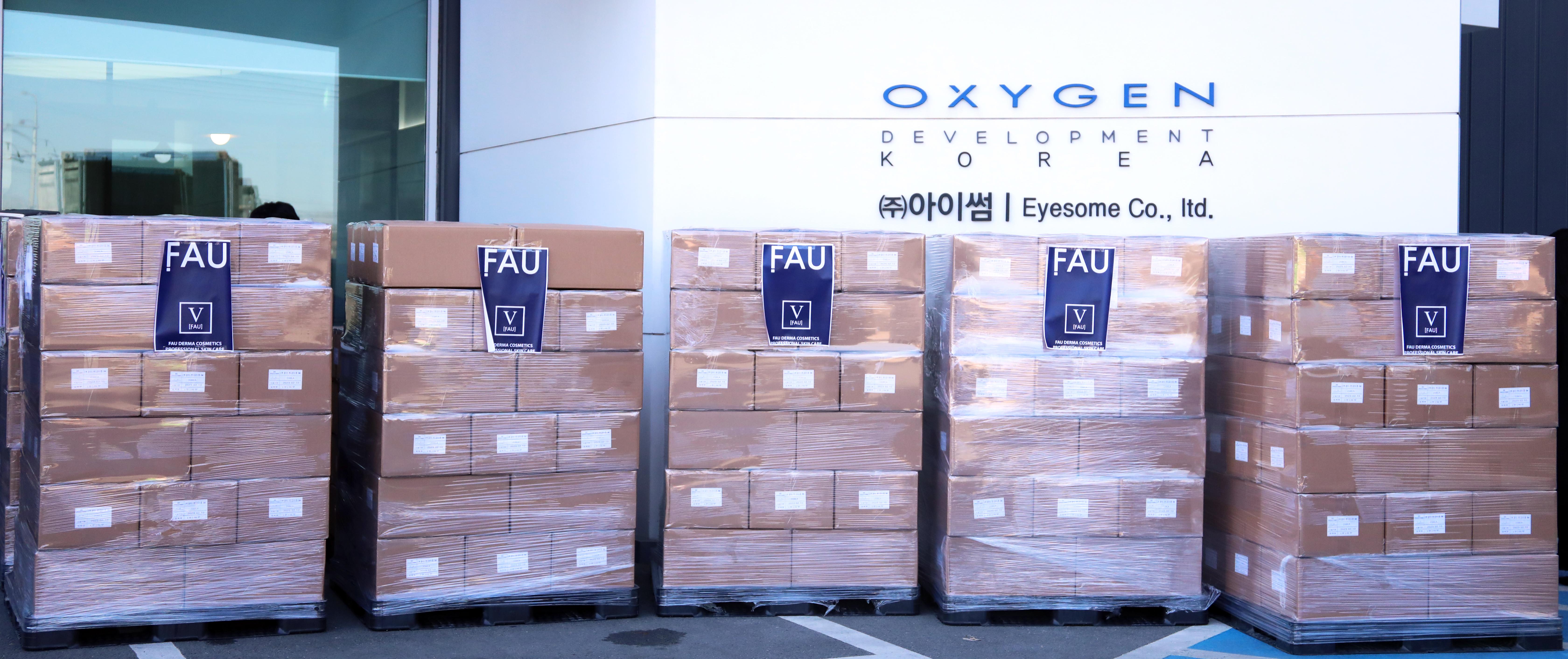 参与防COVID-19扩散中,韩国FAU艾芙优向中国捐赠洗手液