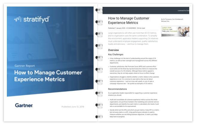 斯图飞腾Stratifyd:Gartner客户体验指标管理报告
