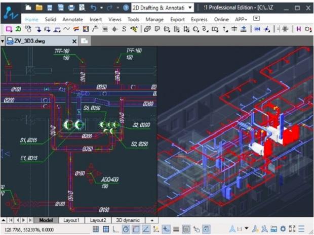 中望软件与AXON-vent公司达成战略合作,推出高效暖通设计解决方案